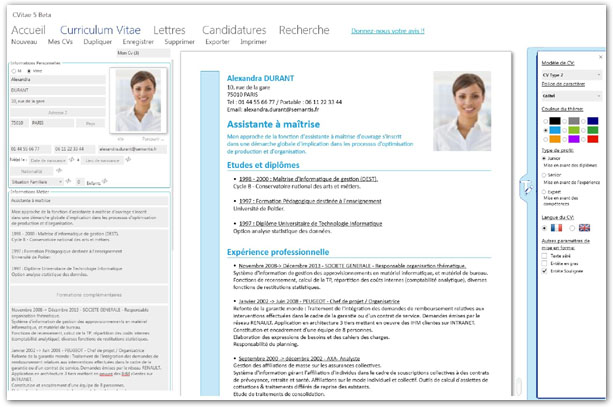 creation d'un cv en ligne