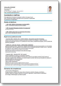 modele de cv gratuit a imprimer modele cv imprimer gratuit   CV Anonyme modele de cv gratuit a imprimer